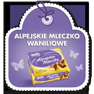 MILKA ALPEJSKIE MLECZKO WANILIOWE 330 g