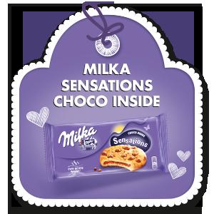 MILKA SENSATIONS CHOCO INSIDE 156 g
