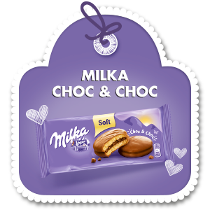 MILKA SOFT CHOC & CHOC 150 g