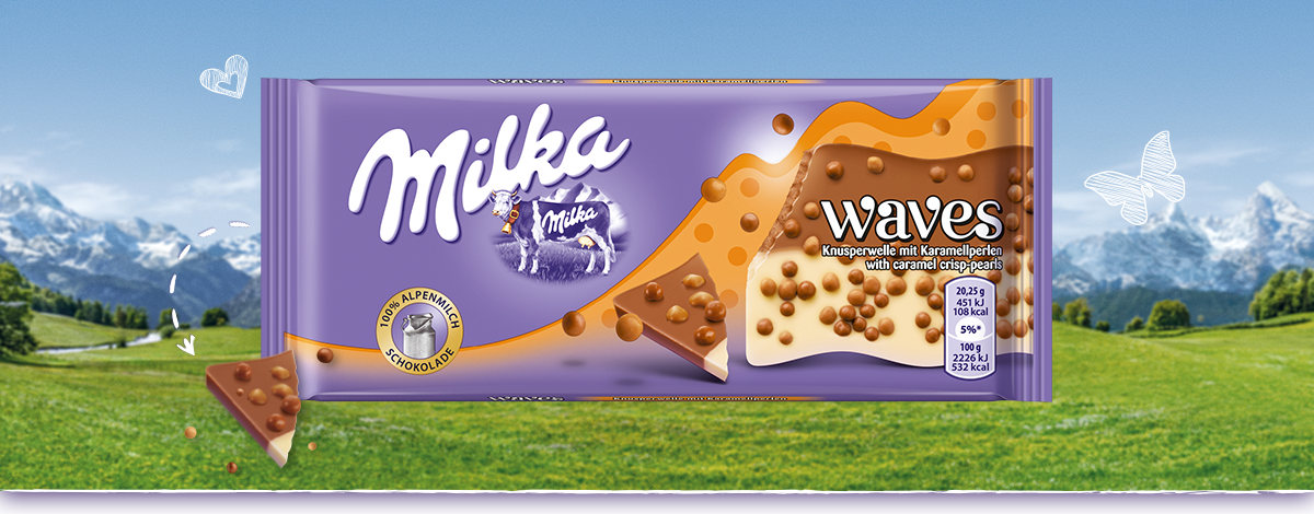 Milka Waves - Karamell