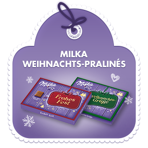 Milka Weihnachts-Pralinés Kakao-Crème & Kirsche 110g