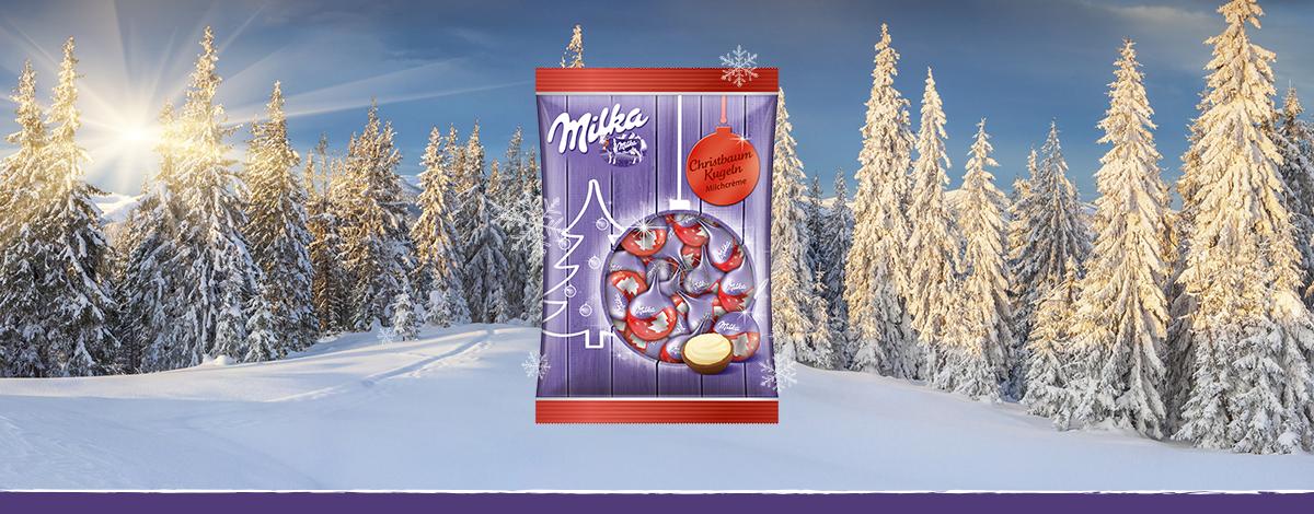 Milka Karácsonyfadísz Piros