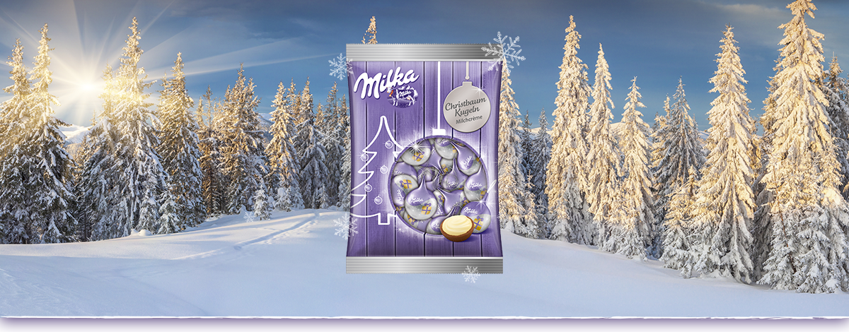 Milka Karácsonyfadísz Ezüst