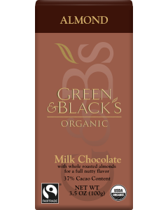 Organic Almond Milk Chocolate Bar, 34% Cacao