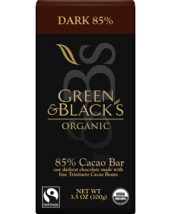 Organic Dark Chocolate Bar, 85% Cacao