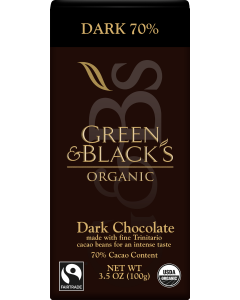 Organic Dark Chocolate Bar, 70% Cacao
