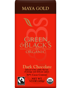 Organic Maya Gold Dark Chocolate Bar, 60% Cacao