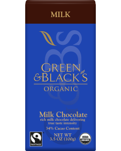Organic Milk Chocolate Bar, 34% Cacao