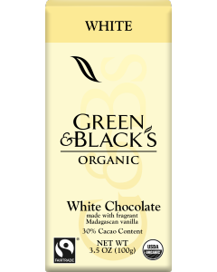Organic White Chocolate Bar, 30% Cacao