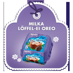 Milka Löffel-Ei mit Oreo