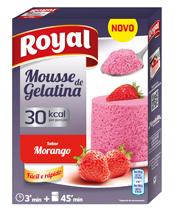 Mousse de Gelatina Morango 30 Kcal