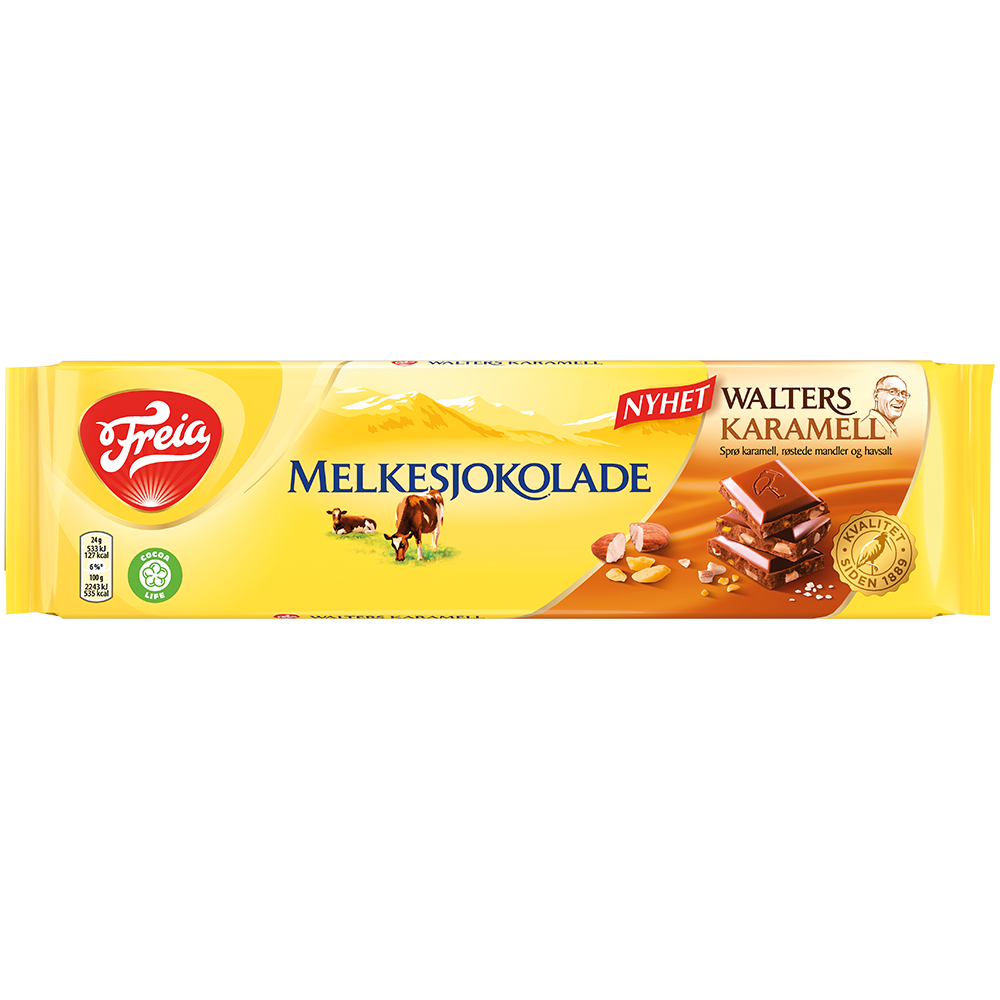 Freia Melkesjokolade Walters Karamell (190 g)