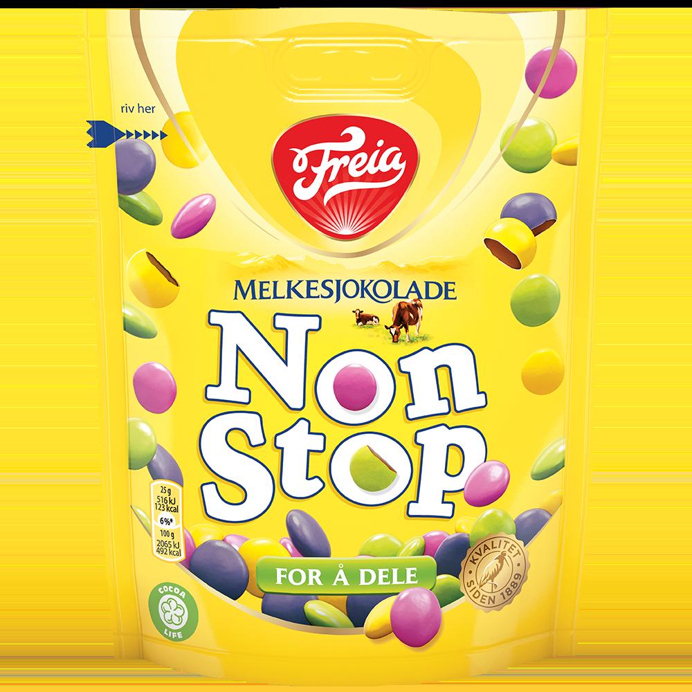 Freia Non Stop Melkesjokolade (180 g)