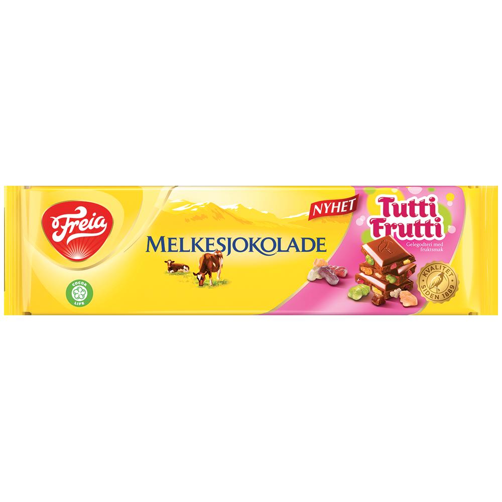 Freia Melkesjokolade Tutti Frutti 190g