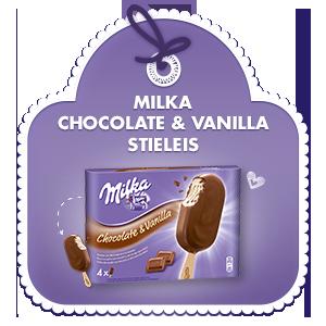 Milka Chocolate & Vanilla Stieleis
