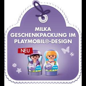 Milka Geschenkpackung im PLAYMOBIL®-Design
