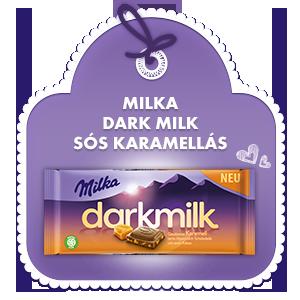 MILKA DARK MILK SÓS KARAMELLÁS 85G