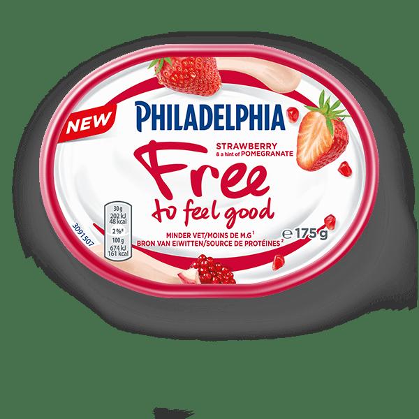 philadelphia-free-to-feel-good-aardbei-met-granaatappel