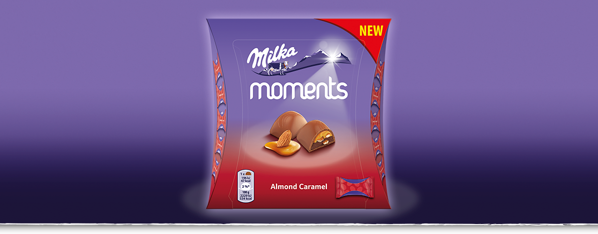 MILKA MOMENTS ALMOND CARAMEL 96 g