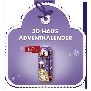 Milka 3D Haus Adventkalender 229g