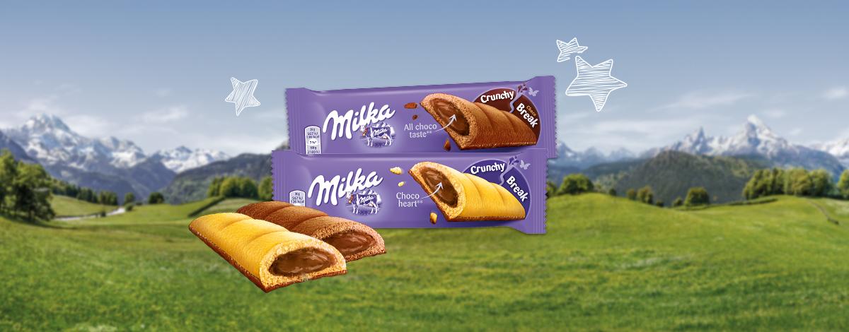Milka Crunchy Break Plain és Choco 26G