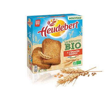 Heudebert - La Biscotte Bio à l'Épeautre Complet - LU