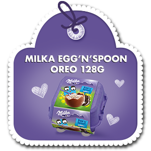 MILKA EGG'N'SPOON OREO 128g