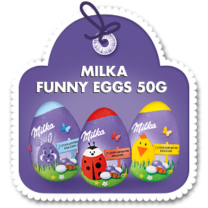 MILKA FUNNY EGGS 50G
