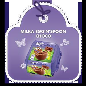MILKA EGG'N'SPOON CHOCO 136 G