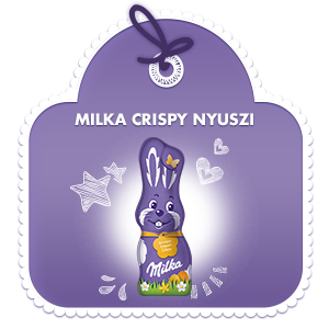 Milka Nyúlfigura Crispy 50g