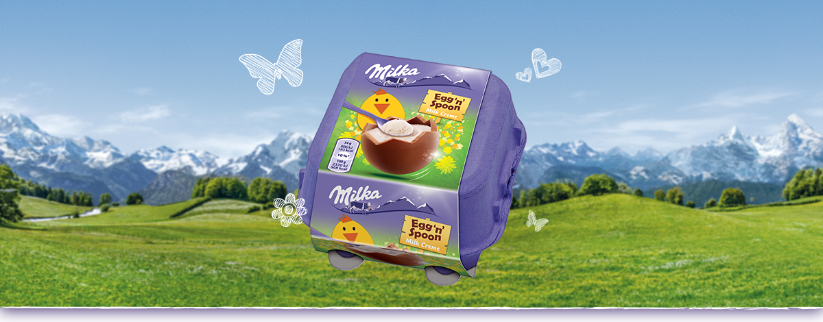 Milka Egg'n'Spoon Tejkrémes 136g