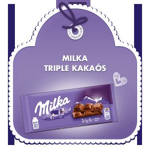 MILKA TRIPLE KAKAÓS 90g