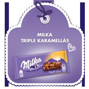 MILKA TRIPLE KARAMELLÁS 90g