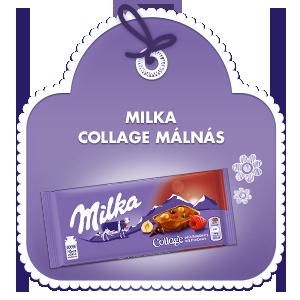 Milka Collage Málnás 93g