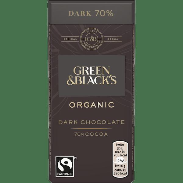 Green and Blacks Organic 70% Dark Chocolate 35g