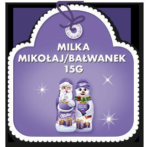 MILKA MIKOŁAJ / BAŁWANEK 15 G