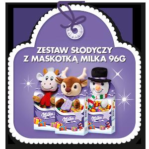 ZESTAW Z MASKOTKĄ MILKA 96.5G