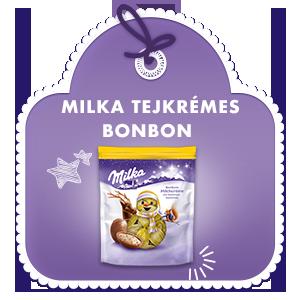 MILKA TEJKRÉMES BONBON MOGYORÓ- DARABOKKAL 86 g