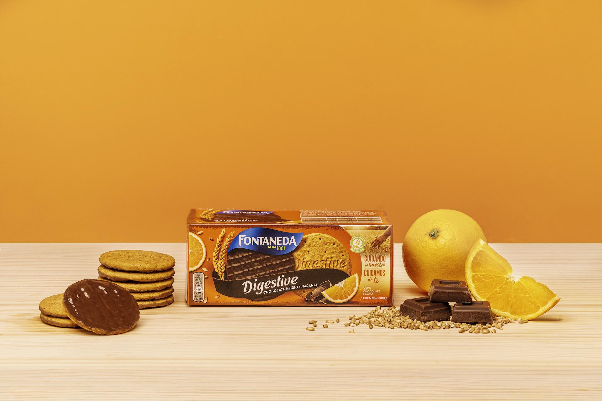 Digestive Chocolate Negro y Naranja