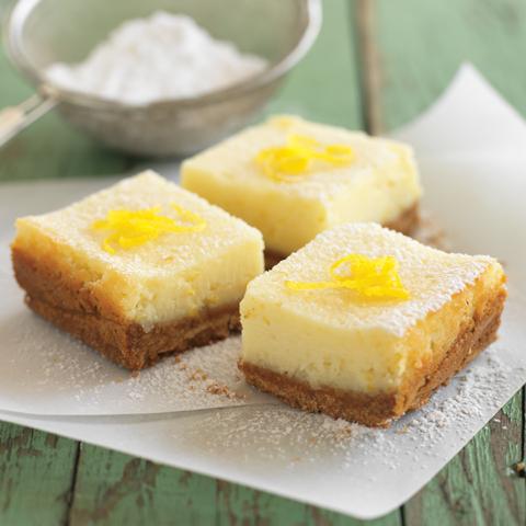 Carrés crémeux au citron recette