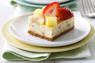 Banana Split Cheesecake Bars Recipe