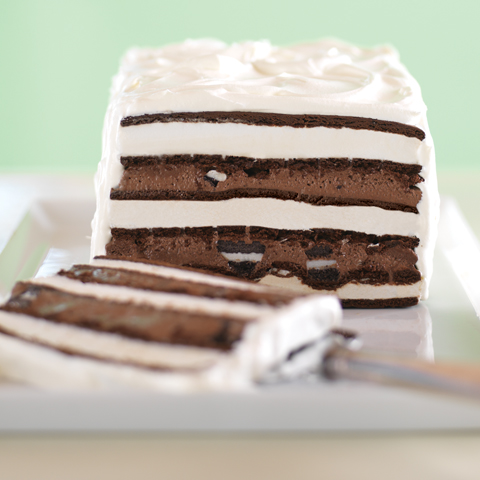 "OREO & Fudge Ice Cream ""Cake"" Recipe"