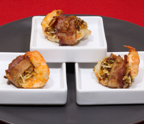 Bacon-Wrapped Stuffed Shrimp made with RITZ Crackers Recipe