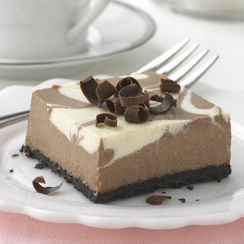 Chocolate-Vanilla Swirl Cheesecake Recipe