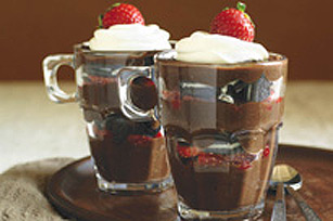 Chocolate, Strawberry & Cookie Parfaits Recipe