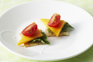 Tomato & Cheese Canapes Recipe