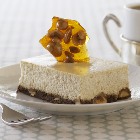 MR. CHRISTIE'S Coffee and Hazelnut Brittle Cheesecake Recipe