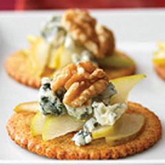Amuse-gueule à la poire et au fromage bleu recette