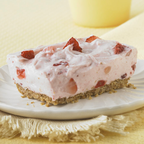 Strawberry Fields No-Bake Cheesecake Recipe