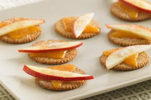 Goûters pomme-cheddar recette